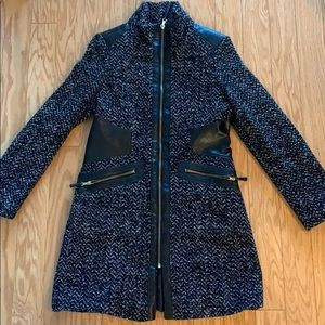 Via Spiga Tweed Wool Coat